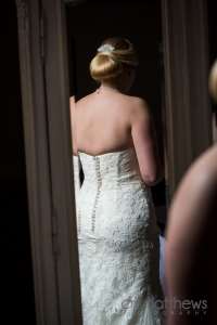 Clean classic bridal chignon