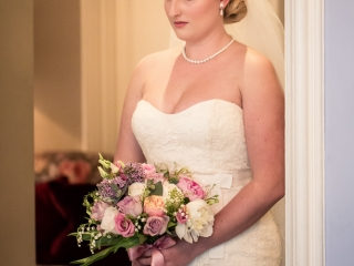 Classic elegant bridal hair and makeup