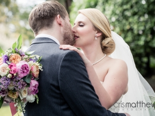 Clean elegant bridal hair and makeup