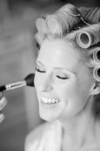 Bridal makeup closeup