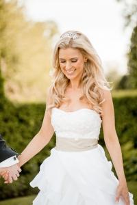Relaxed bridal wedding hair and makeup