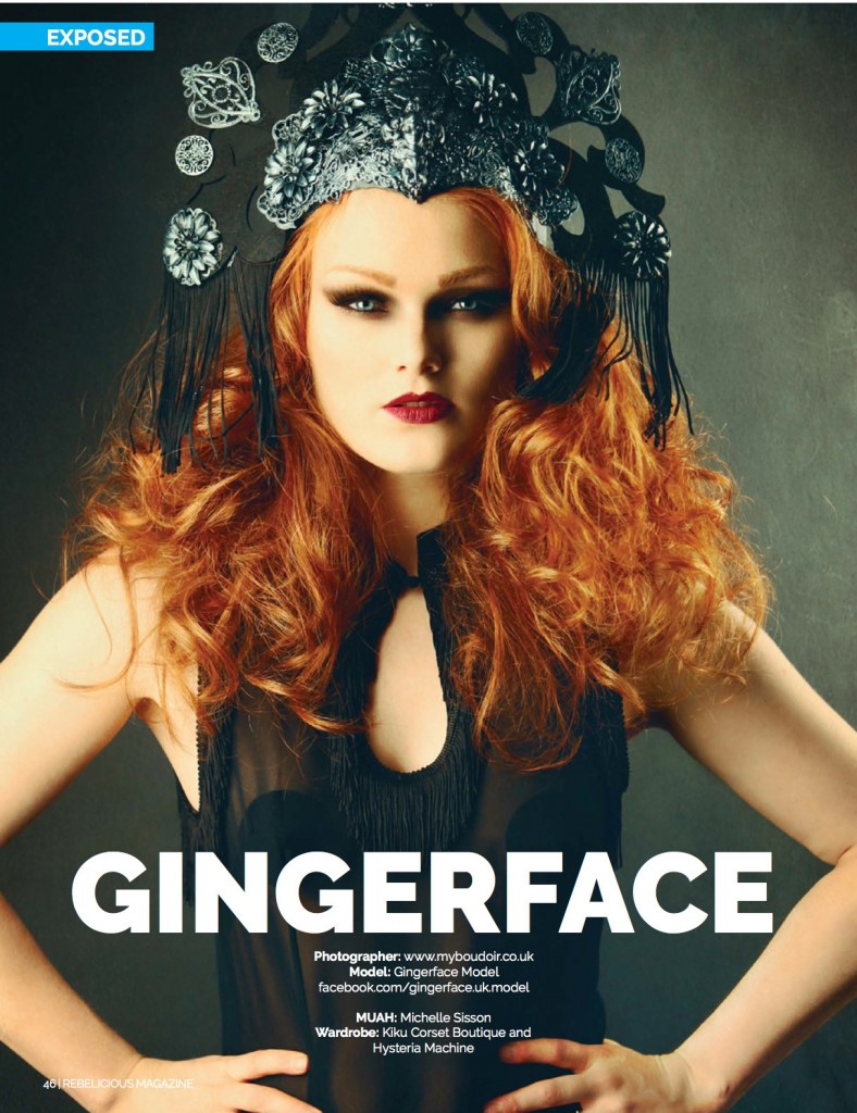 Gingerface model Rebelicious Magazine Jan 2015