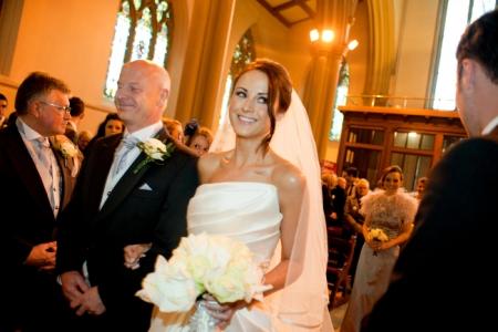 Glowing skin dramatic eye wedding makeup