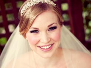 Purple and pink dramatic bridal makeup