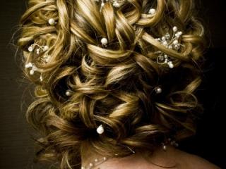 Intricate wedding hair