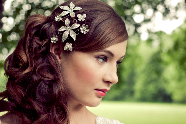 Bridal hair vine hairstyle