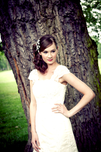 English rose bridal hair and makeup