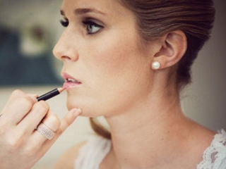 Smokey bridal makeup nude lip