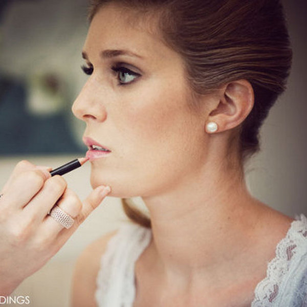 Smokey bridal makeup nude lip