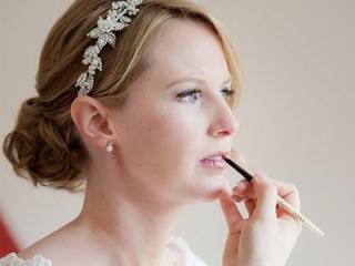 Soft pink bridal lip colour