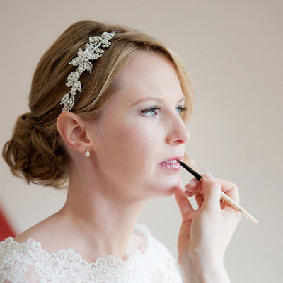 Soft pink bridal lip colour