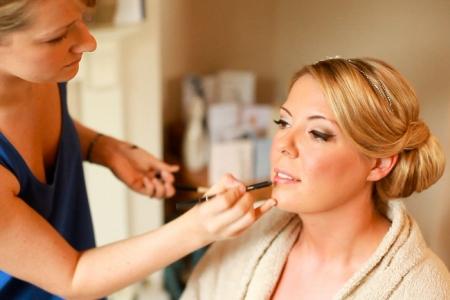 Winged liner bridal makeup