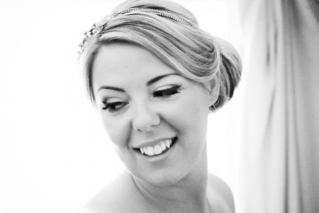 Elegant classic side bun bridal hairstyle