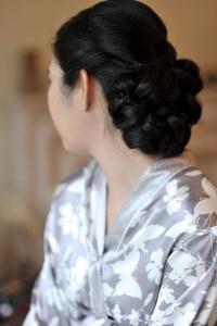 Classic bridal hair low chignon