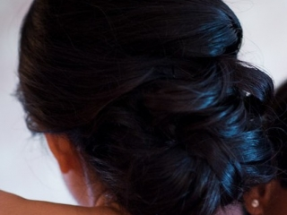 Black hair wedding hairstyle