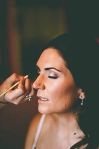 Golden smokey eye bridal makeup