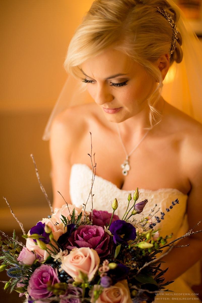 Warm bridal makeup