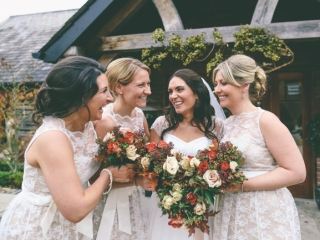 Autumn wedding modern hair and makeup