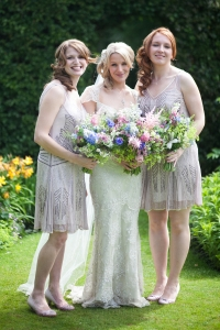 English country garden relaxed wedding hair and makeup