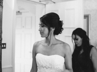 Messy bridal hairstyle