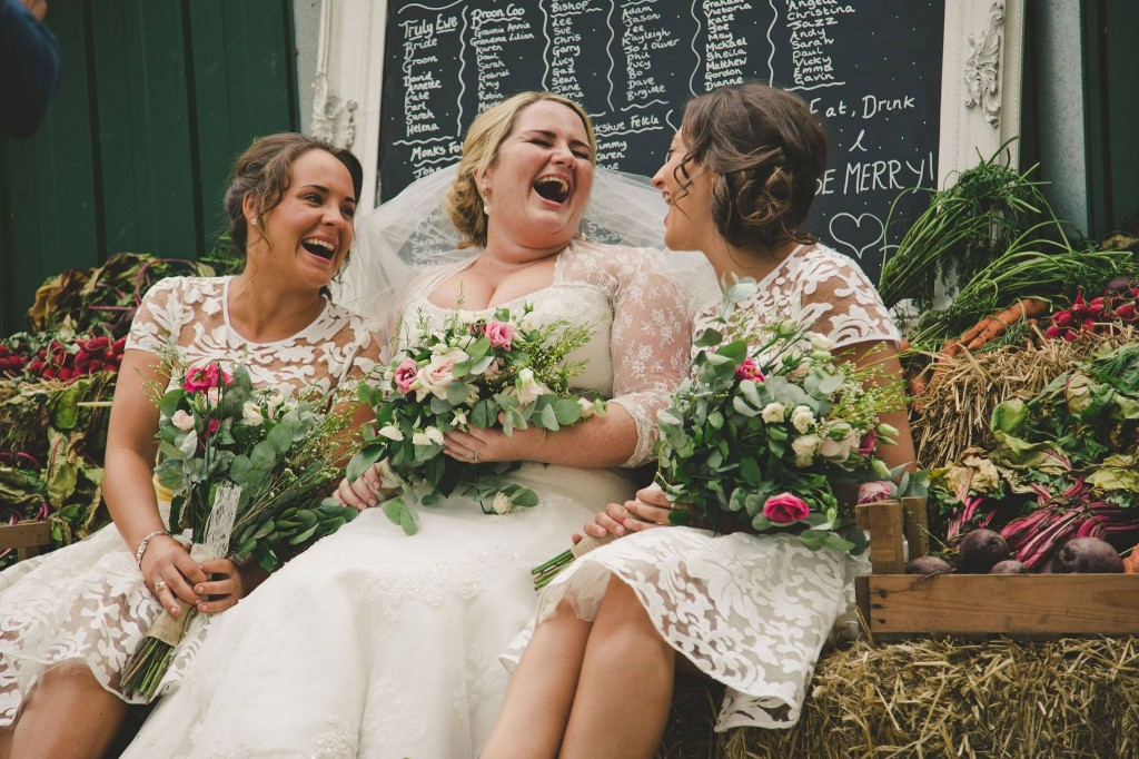 Rustic farm wedding hair and makeup