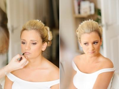 Wedding makeup finishing touches