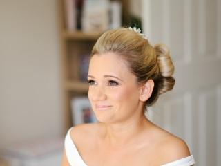 Blushing bride wedding makeup