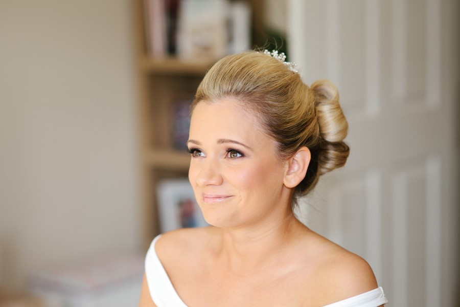 Blushing bride wedding makeup