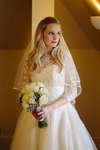 Soft wave bridal hair