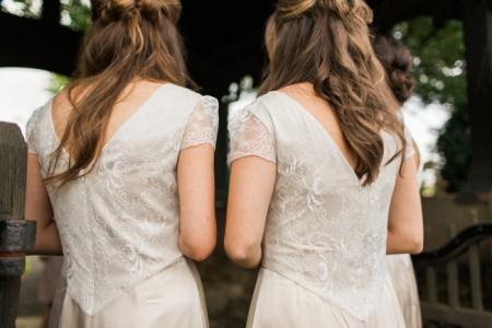 Bridesmaid curled half up half down hairstyles