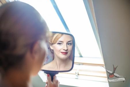 50s inspired wedding makeup