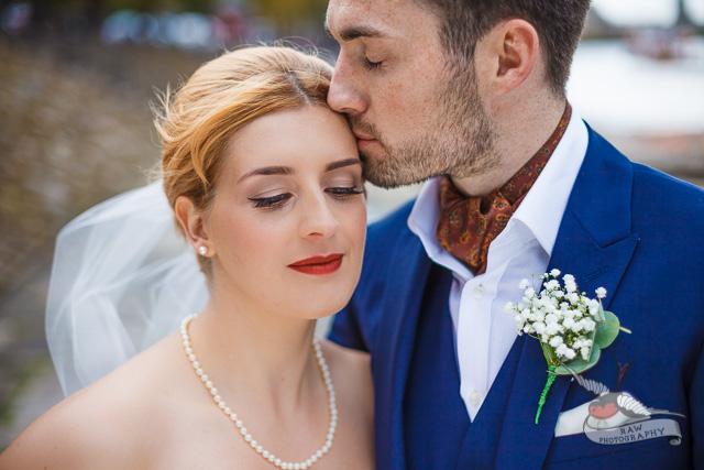 Timeless vintage wedding hair and makeup