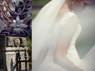 Stylish wedding hair and makeup