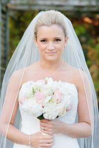 Soft smokey wedding makeup