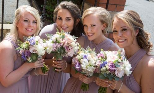 Bridesmaid hair and makeup Lancashire