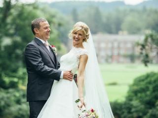 Elegant bridal side bun