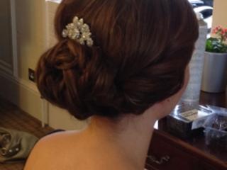 Chic bridesmaid chignon