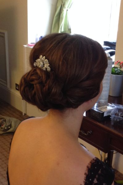 Chic bridesmaid chignon