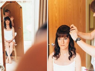 Bridal hair preparations