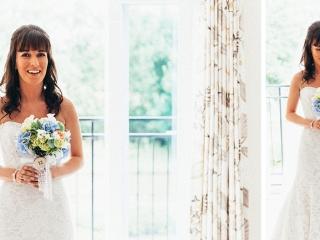 Classic bridal half up half down hair