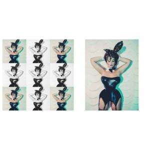 Magic Owen Georgina Horne Fuller Figure Fuller Bust shoot sexy easter bunny