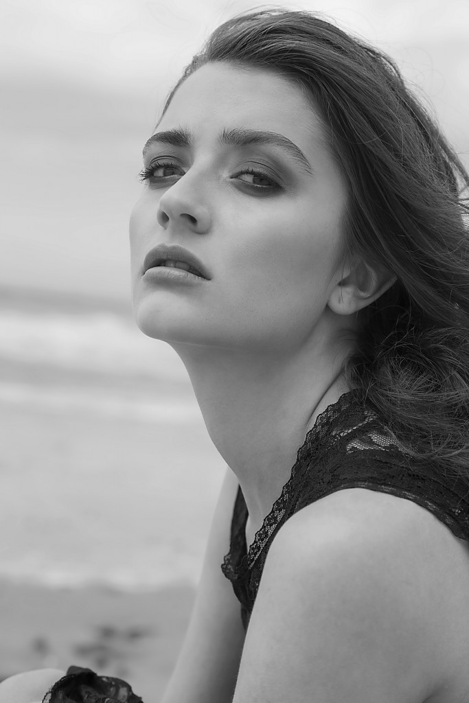 Fashion editorial beach shoot