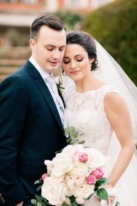 Soft wedding hair and makeup