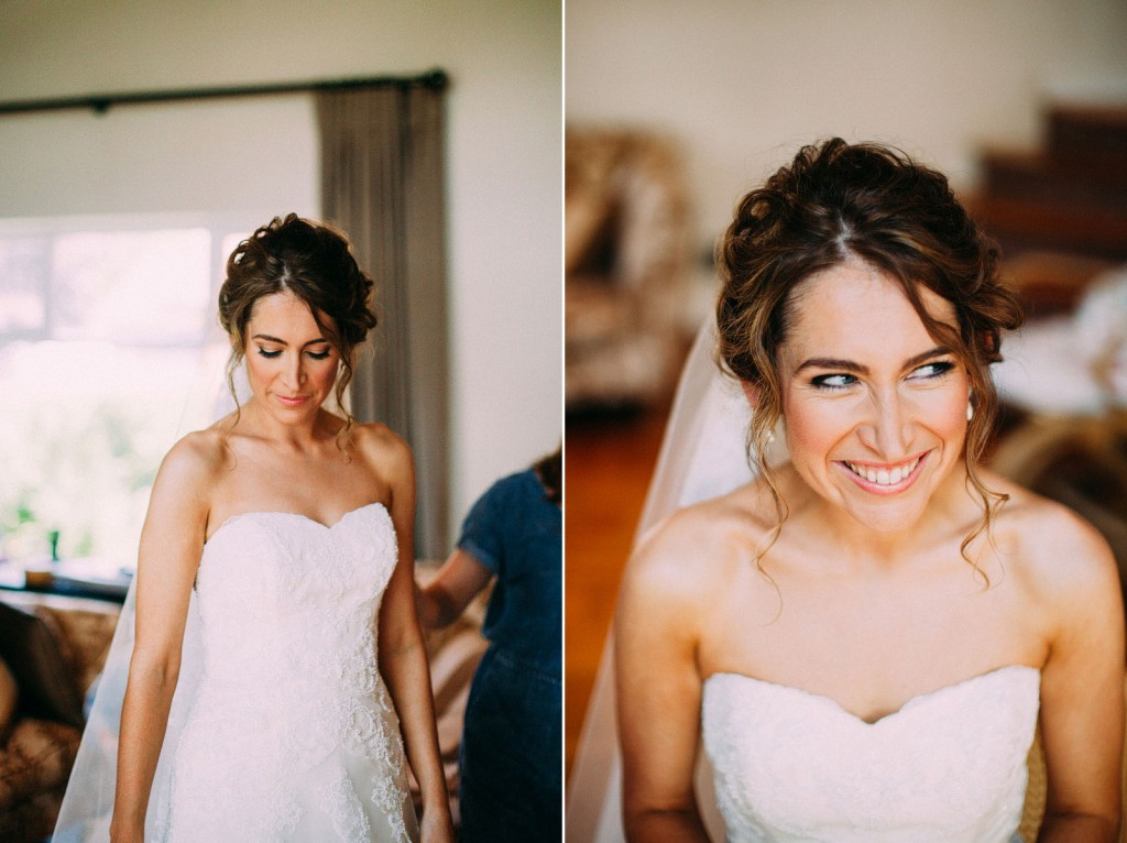 Curly wedding hair