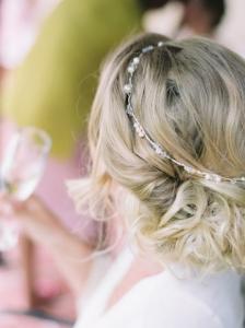 Soft messy bridal hair