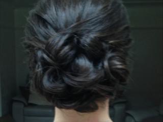 classic wedding bun hairstyle