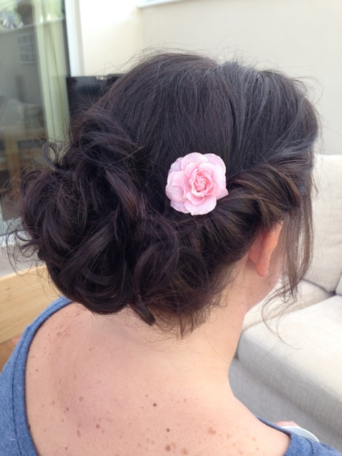 Twisted bridesmaid updo