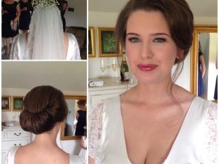 Gibson tuck wedding hair