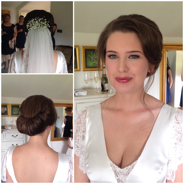 Gibson tuck wedding hair