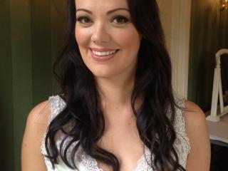 Michelle Keegan inspired bridal hair and makeup